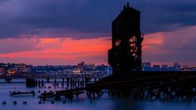 Hora azul do Upper West Side imagens de stock royalty free