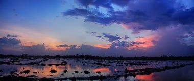 Hora azul dourada Imagem de Stock