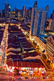 Hora azul em Singapore Chinatown Imagem de Stock
