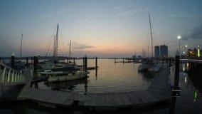 Hora azul en la bahía de Danga