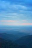 Hora azul nos Carpathians Imagem de Stock