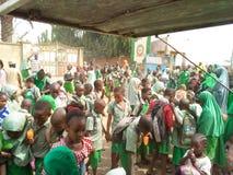 Hora cerrada de la escuela africana imagen de archivo