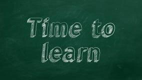 Hora de aprender