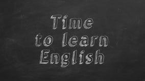 Hora de aprender ingl?s ilustración del vector