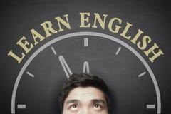 Hora de aprender o conceito inglês foto de stock royalty free