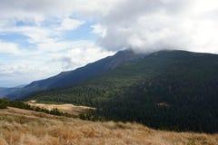 Hora de Babia 1725 m en nubes, Orava Foto de archivo libre de regalías