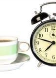 Hora de beber el café fotos de archivo