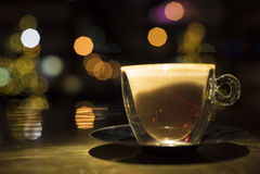 Hora de beber o café Foto de Stock Royalty Free