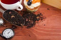 Hora de beber o chá imagens de stock royalty free