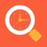 Hora de buscar, tiempo de búsqueda Imagen de archivo libre de regalías