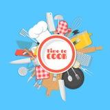 Hora de cocinar el fondo Fotografía de archivo libre de regalías