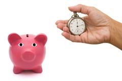 Hora de comenzar ahorros Fotografía de archivo libre de regalías