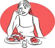 Hora de comer Imagen de archivo libre de regalías