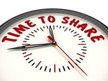 Hora de compartir Relojes con una inscripción stock de ilustración