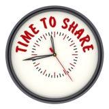 Hora de compartir Relojes con una inscripción ilustración del vector