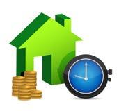 Hora de comprar uma HOME Imagens de Stock