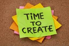 Hora de crear Fotos de archivo libres de regalías