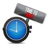 Hora de dar el reloj Imagen de archivo