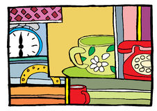 Hora de desayunar Foto de archivo libre de regalías