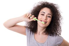 Hora de escovar os dentes! fotos de stock royalty free
