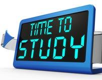 Hora de estudiar el mensaje que muestra la educación y estudiar Foto de archivo