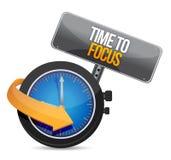 Hora de focalizar a ilustração do conceito Imagem de Stock Royalty Free