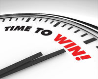 Hora de ganar - el reloj Imágenes de archivo libres de regalías