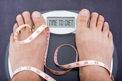 Hora de ir em uma dieta Fotografia de Stock Royalty Free
