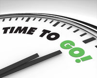 Hora de ir - reloj Foto de archivo libre de regalías