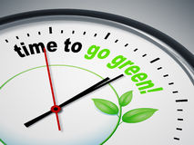 Hora de ir verde Fotos de archivo