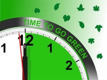 Hora de ir verde - formato de los cdr Fotos de archivo