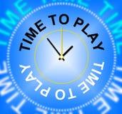 Hora de jugar la diversión y la hora del recreo de los juegos de los medios Fotografía de archivo