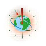 Hora de la tierra ilustración del vector