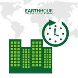 Hora de la tierra Imagen de archivo libre de regalías