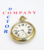 Hora de llamar a un doctor de compañía. Imágenes de archivo libres de regalías