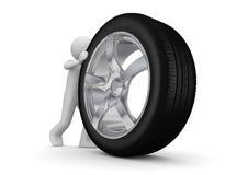 Hora de mudar seus pneumáticos Imagens de Stock Royalty Free