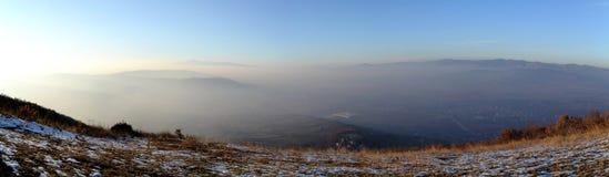 Hora de oro del top de las colinas imagenes de archivo