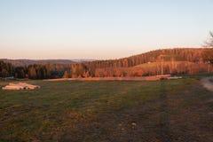 Hora de oro en la puesta del sol fotos de archivo libres de regalías