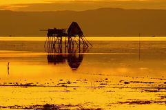 Hora de oro en un pueblo pesquero  Foto de archivo libre de regalías