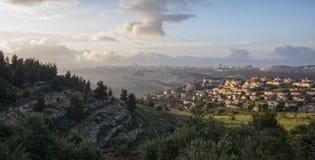 Hora de oro Jerusalén fotografía de archivo