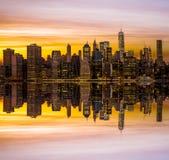 Hora de oro Manhattan céntrica Foto de archivo libre de regalías