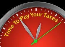 Hora de pagar seus impostos Imagens de Stock