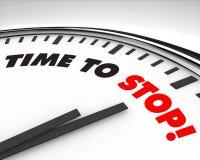 Hora de parar - el reloj Fotos de archivo libres de regalías