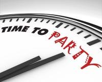 Hora de party - el reloj Fotografía de archivo