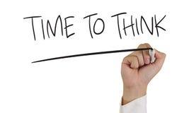 Hora de pensar Imagem de Stock