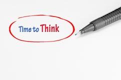 Hora de pensar - o conceito do negócio Fotografia de Stock Royalty Free