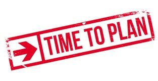 Hora de planear el sello Foto de archivo libre de regalías