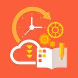 Hora de planejar e organizar Ilustração do Vetor