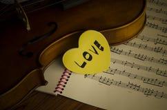 Hora de praticar o violino Foto de Stock