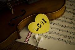 Hora de praticar o violino Fotos de Stock Royalty Free